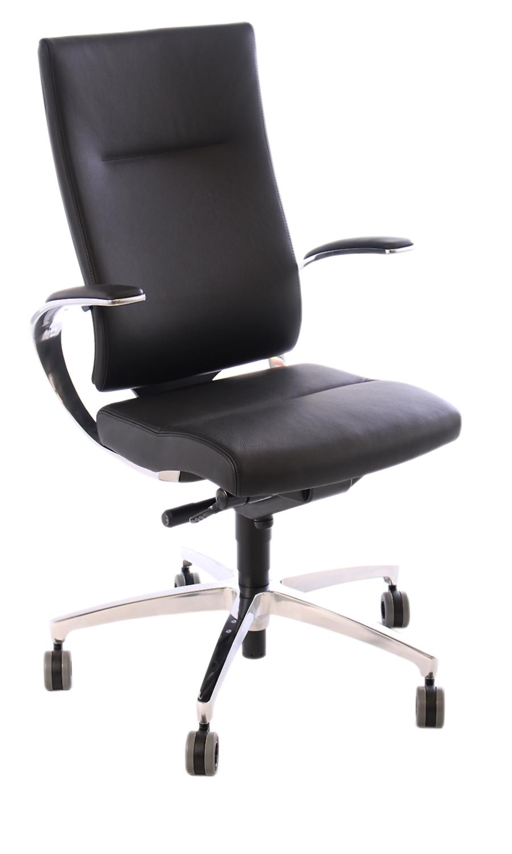 chefsessel dauphin intouch leder schwarz. Black Bedroom Furniture Sets. Home Design Ideas